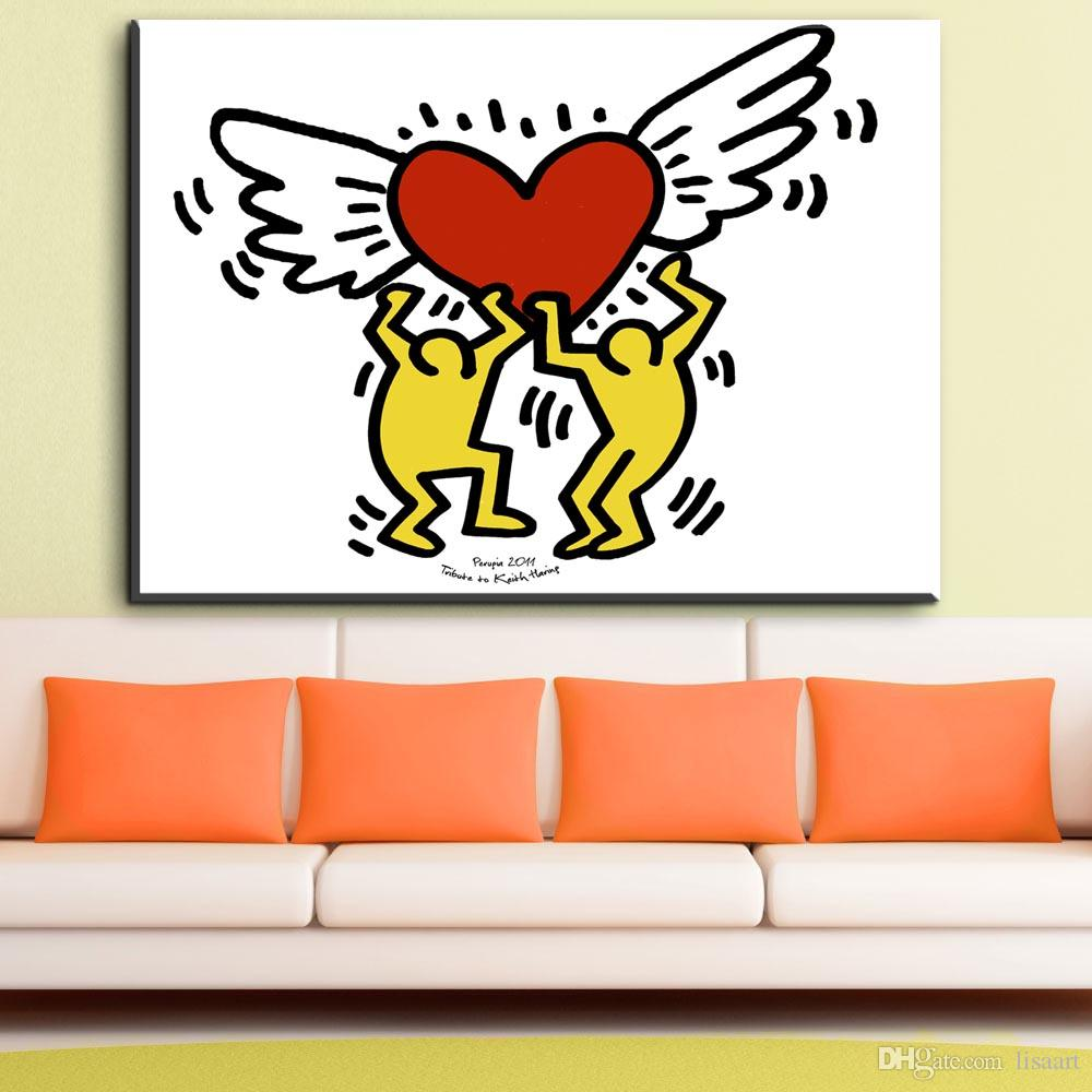 ZZ1983 modern canvas art keith haring love art canvas oil painting for livingroom bedroom decoration canvas prints art unframed