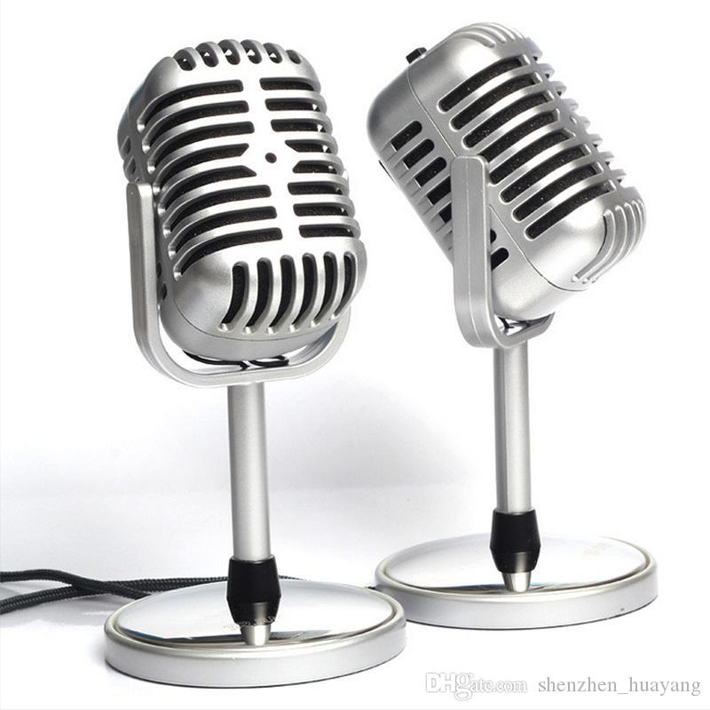 wholesale stereo retro microphone classic vocal mic studio record for pc laptop computer. Black Bedroom Furniture Sets. Home Design Ideas