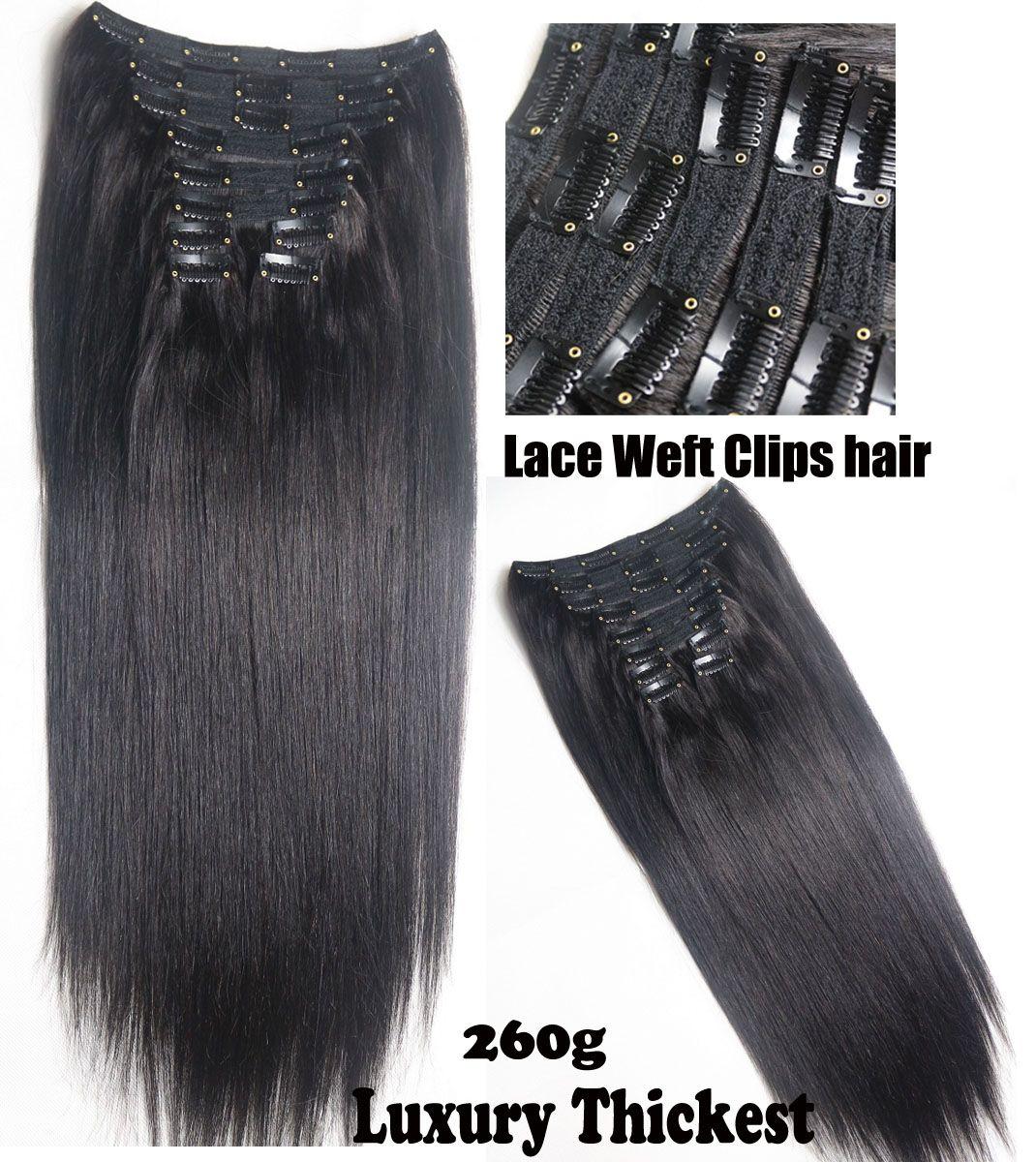 20 28 100 Brazilian Remy Human Hair Clips Inon Human Hair