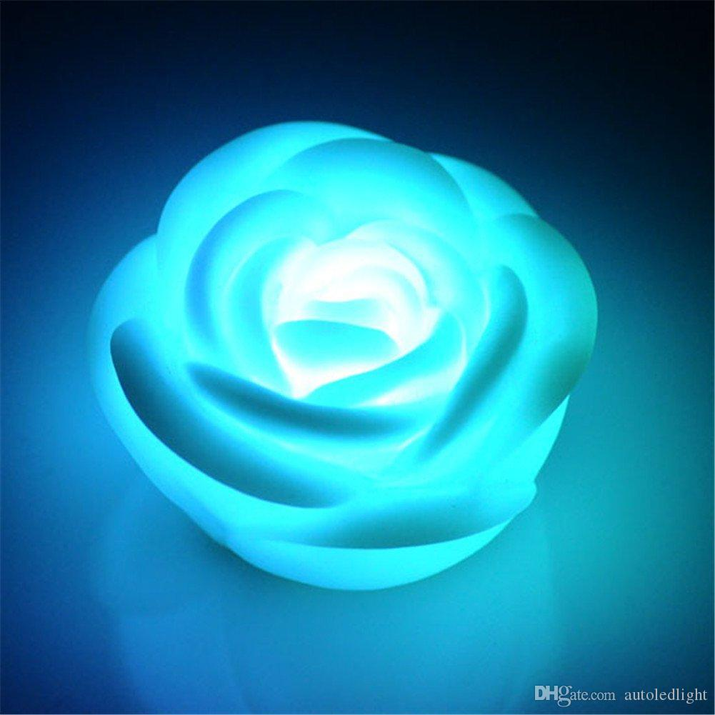 يتوهم الملونة تغيير الصمام روز زهرة رومانسية الزفاف الديكور حزب مصباح أضواء الشموع جعل رغبة الرغبات روز الصمام ضوء الليل