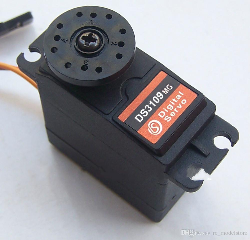 retail RC servo 360 degree Continuous Rotation Servos DS3109MG metal Gear  arduino servo digital servo Car Robot 10kg/cm DC 4 8-6V wholesales