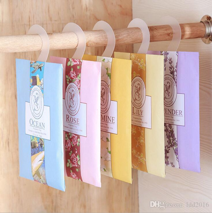 natural multi-functional hanging air freshener sachet bag for homes car mini scent bag different fragrances