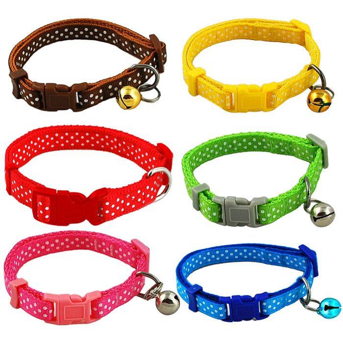Dot Print Nylon Dog Puppy Cat Collars For Pet Small Animal Pets Supplies