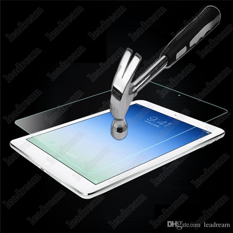 50 ADET Patlamaya dayanıklı 9 H 0.3mm Ekran Koruyucu Temperli Cam iPad Mini 1 2 3 4 için Paket olmadan ücretsiz DHL
