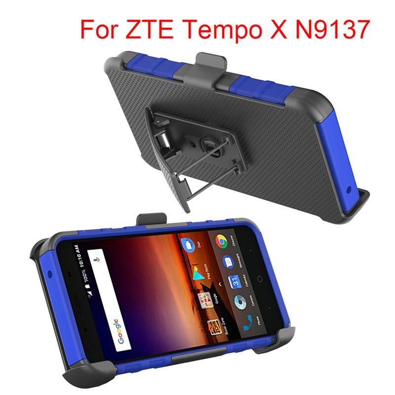 Hybrid Armor Case dla ZTE Tempo X N9137 dla Samsung Galaxy Note 8 Pokrywa robota Super Combo Heavy Duty z klipsem
