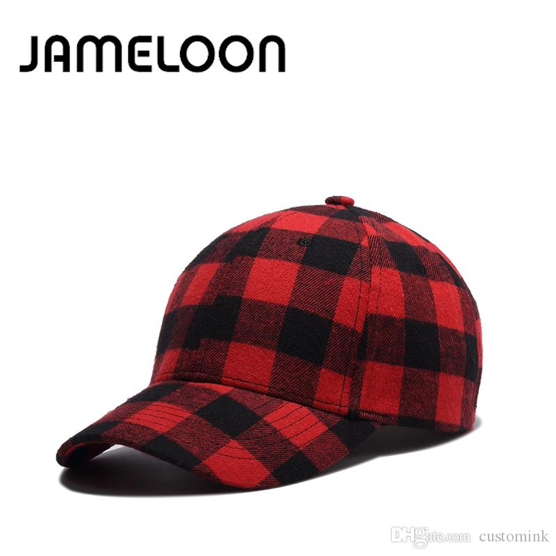 16dd372f01bc8 JAMELOON Red Plain Fashion 6 Panels Summer Baseball Cap Women Men ...