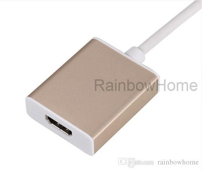 USB 3.1 Typ C zu HDMI Kabel Adapter Stecker zu Buchse Konverter für 2016 neue Macbook Chromebook Pixel Microsoft Lumia 950 Projektor