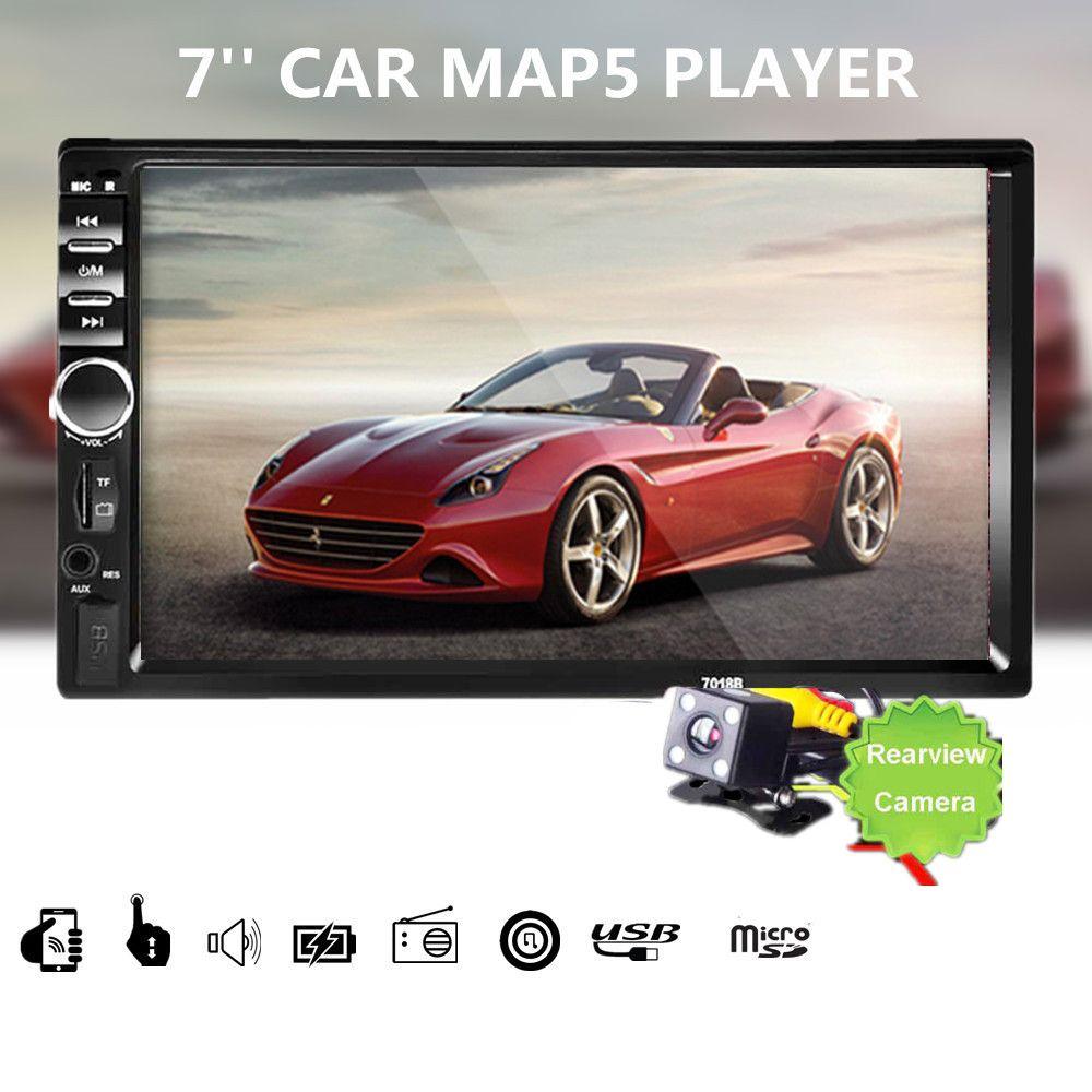Online Cheap 7018B Car Audio 7 Inch 2 DIN Autoradio Stereo Touch Screen Auto  Radio Video MP5 Player Support Bluetooth TF SD MMC USB FM Camera By Szfurx  ...