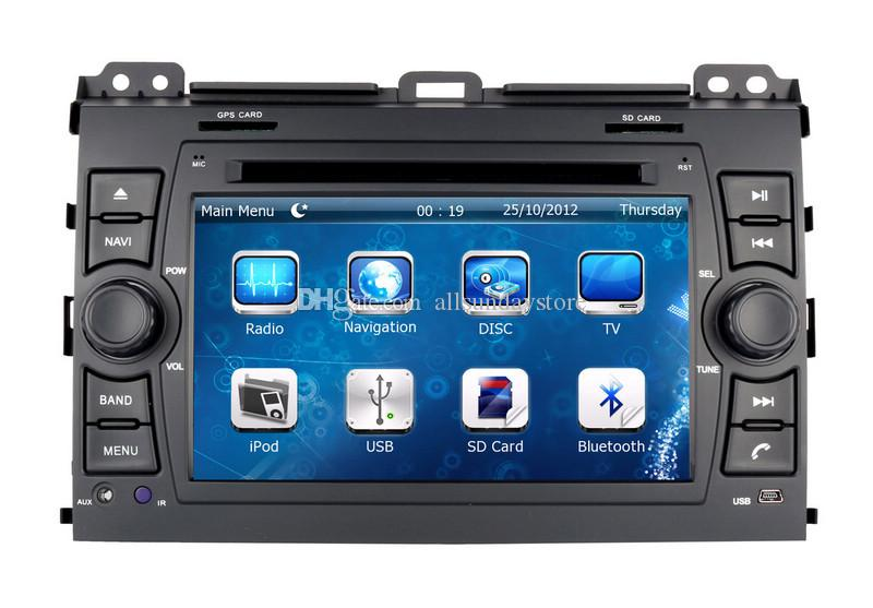 Auto Radio Car DVD Player for Toyota Land Cruiser Prado 2002-2009 with GPS Navigation BT TV USB SD AUX Map Audio Video Stereo