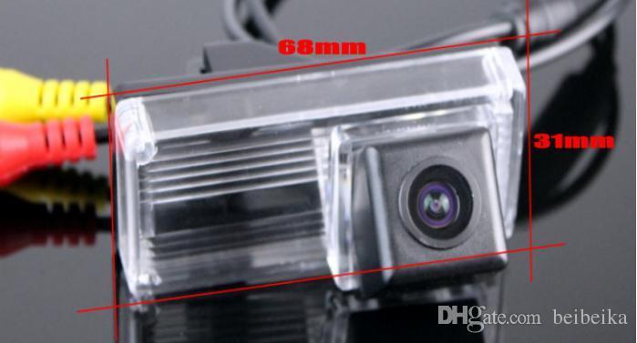 HD автомобиль CCD RCA NTST номерного знака OEM / камера заднего вида Toyota Land Cruiser / Prado 1998~2014 без запасного колеса на задней двери