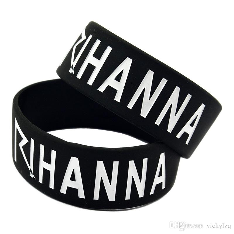 1 Inch Breite I Love Rihanna Silikon-Armband perfekt Einsatz in jedem Vorteile Geschenk für Konzert