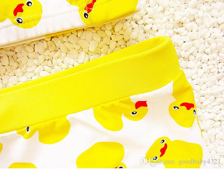 Baby Toddler Boy Swim Trunk Duck Swimming Shorts with Swim Hat