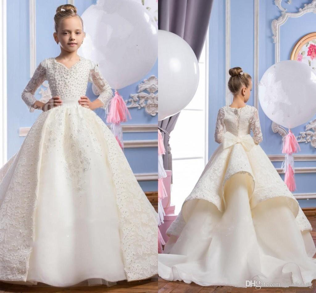 Lovely Kids Princess Ball Gown New Communion Dresses With Tulle Bust ...