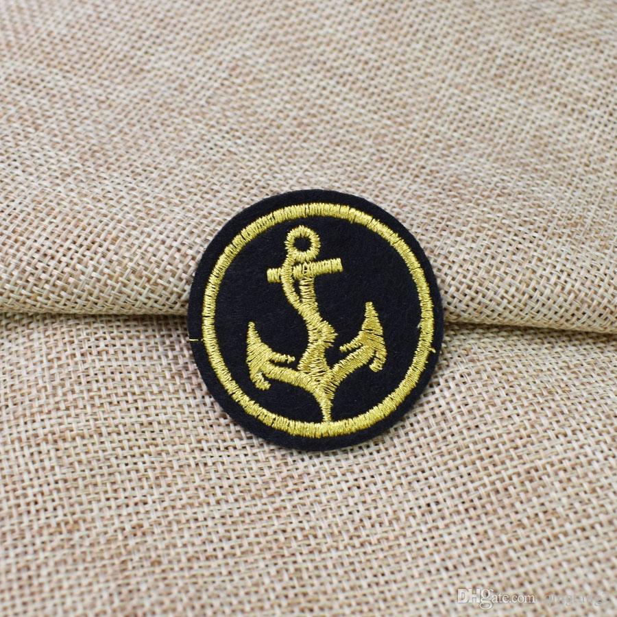 Круглый якорь вышивка значок патчи для одежды железа патч для одежды аппликация швейные аксессуары наклейки на ткани железа на патч