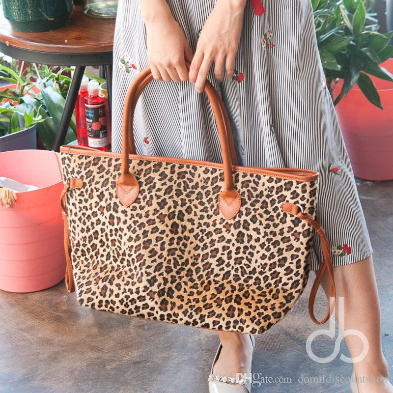 short furWholesale Blanks Leopard Large Tote Bag Cheetah Large Capacity Handbag DOM103369