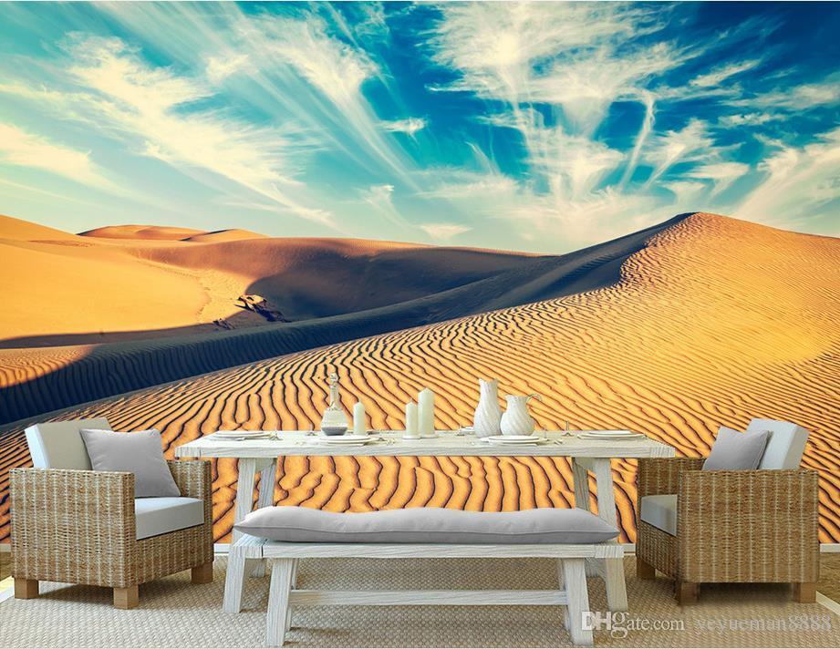 Custom 3d Mural Wallpaper Desert Landscapes Tv 3d Wall Murals