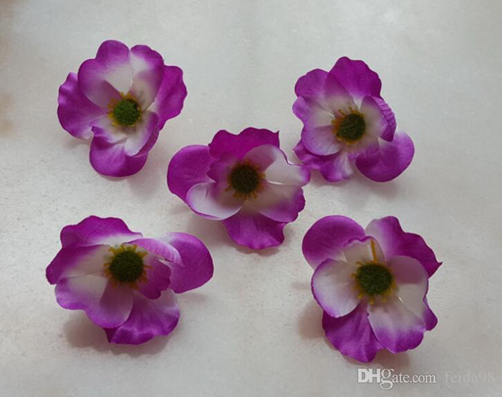 7cm beschikbaar Kunstmatige Zijde Poppy Bloemhoofden voor DIY Decoratieve Garland Accessoire Bruiloft Hoofdwirware 500 stks / partij G620