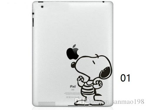 Hot Originality Cartoon-5 series Vinyl Tablet PC Decal Black Sticker Skin for Apple iPad 1 /2 / 3 / 4 / Mini Laptop Skins Sticker