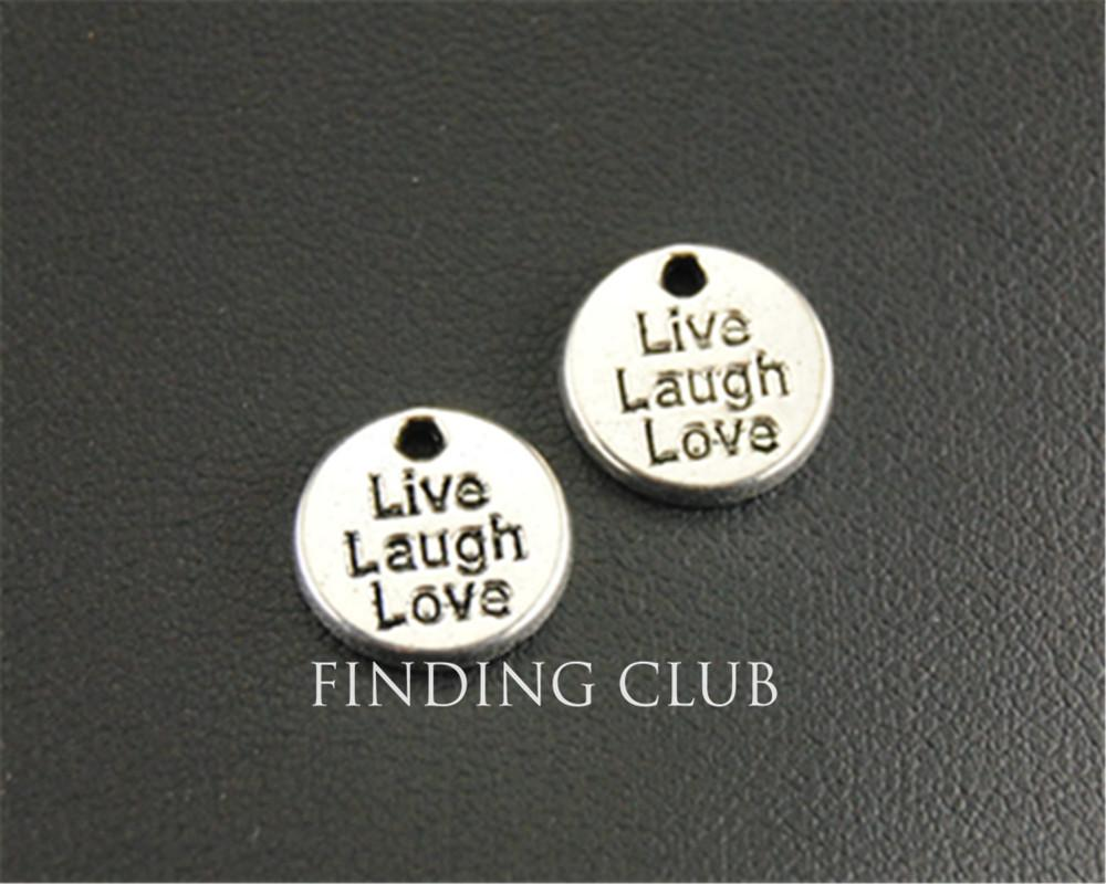 Antique silver mini live laugh love round letter charm jewellery antique silver mini live laugh love round letter charm jewellery pendant for bracelet necklace 10mm a1320 high quality pendants for china letter charms buycottarizona