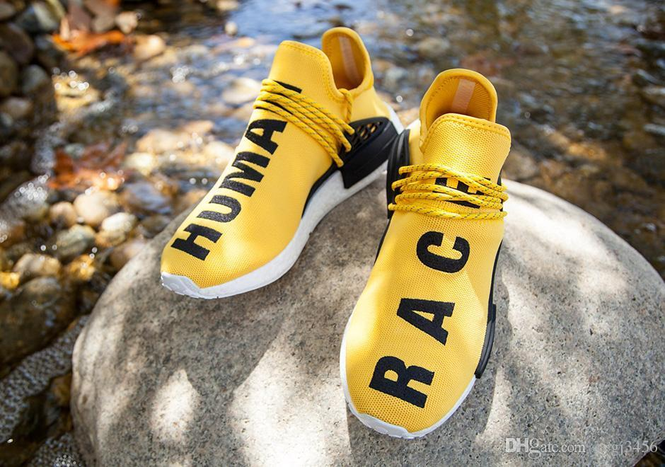 71998151db7a0 Top Quality Pharrell Williams X NMD Human Race Boost Running Shoes Men NMD  Sports Athletic Women Outdoor Boost Training Sneaker Shoes 36 45 Tennis  Shoes ...