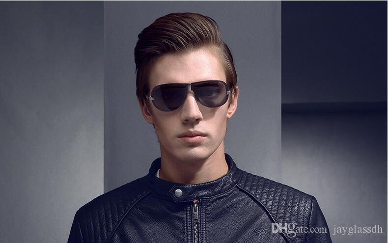 2020 جديد وصول العلامة التجارية مصمم الأزياء السفر الضفدع الرجال نوعية جيدة نظارات بدون إطار الكلاسيكية الاستقطاب ذكر القيادة النظارات الشمسية حملق