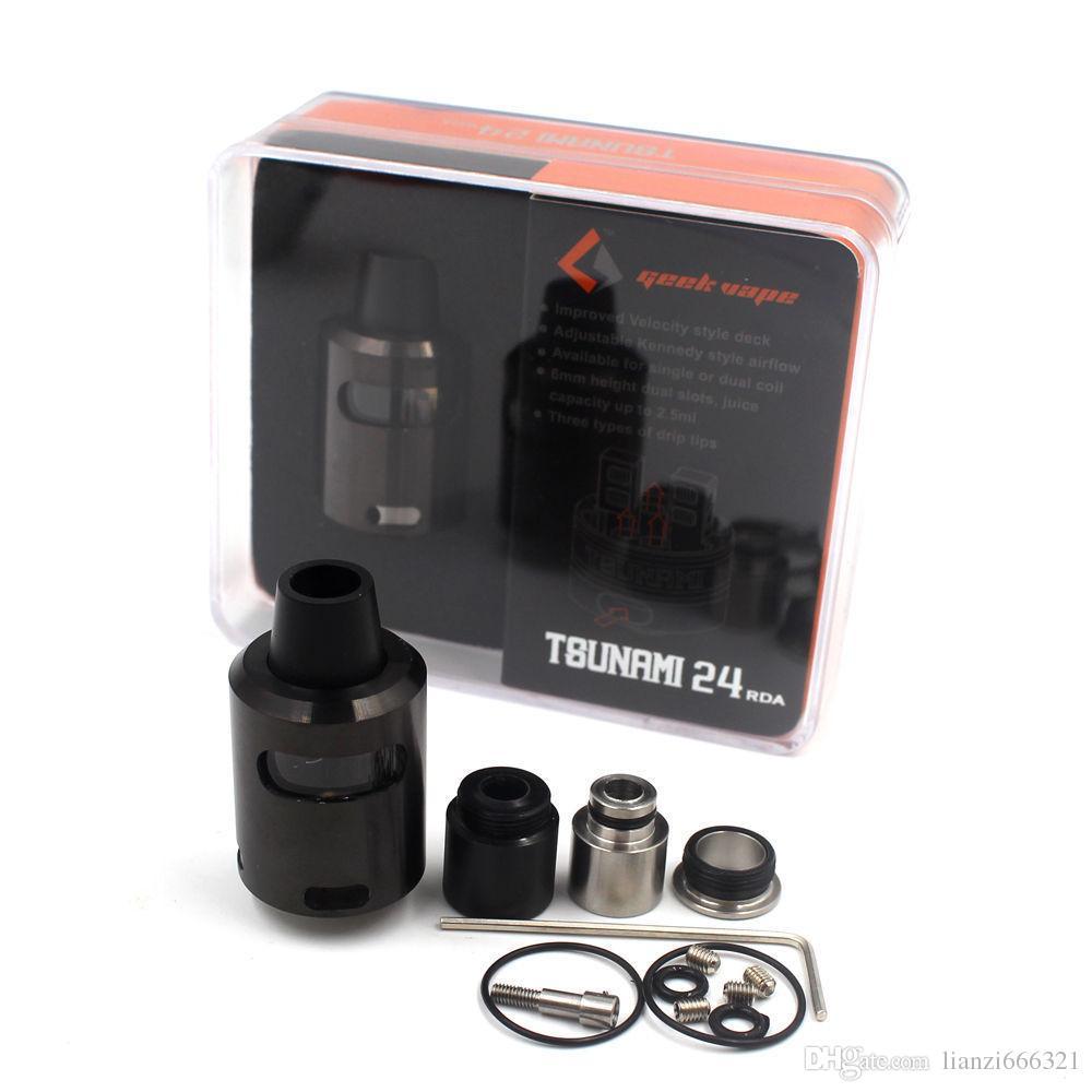 TSunami 24 RDA Tanque Refruiltável Vape Vapor 24mm 2 Post Velocity Estilo de Vidro Janela de vidro Tsunami 24 Vidro Janela RDA