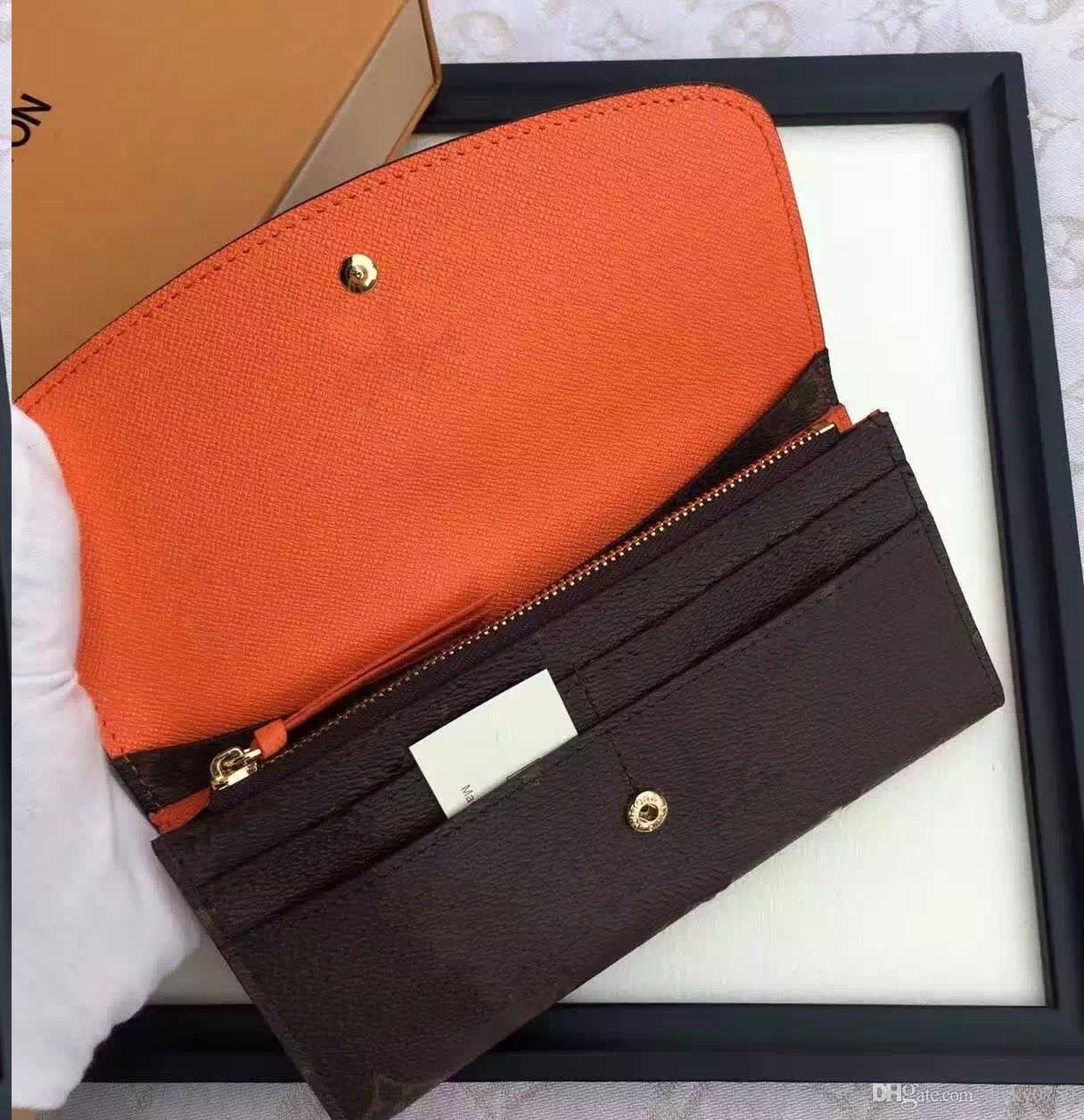 2018 free shpping Wholesale red bottoms lady long wallet multicolor designer coin purse Card holder original box women classic zipper pocket