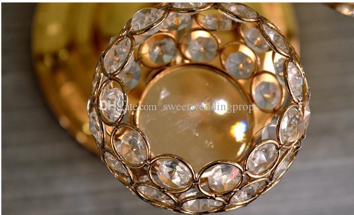 Decoración de la boda perla de vidrio Soporte de flor para soporte Seda Rosa Artificial arreglo floral de la pared para la etapa