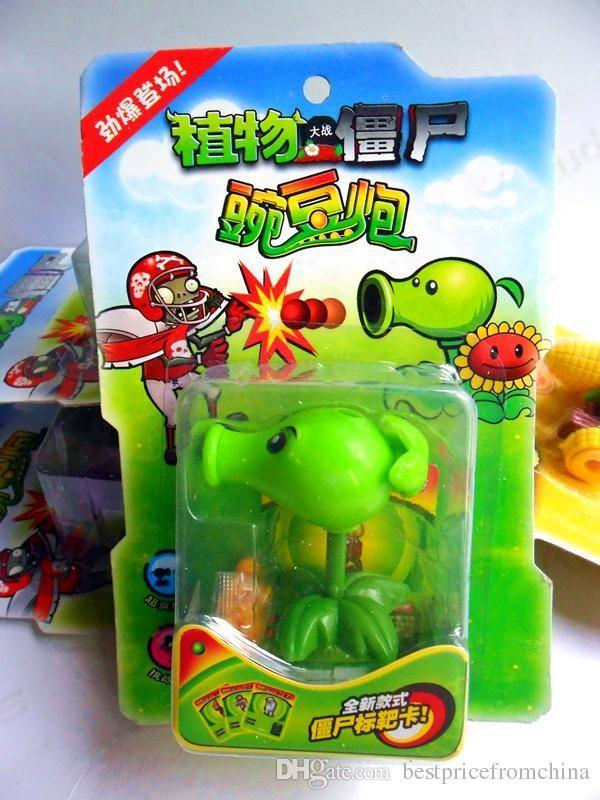 "Plants vs Zombies Toys Peashooter / Snow Pea ABS Shooting Doll 7cm/2.8"" Tall"