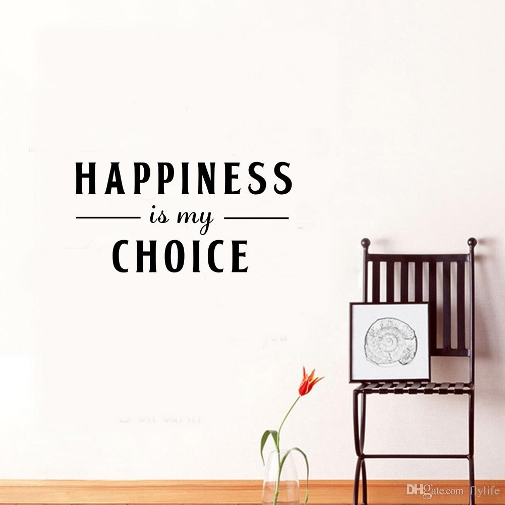 Happiness Is My Choice Quote Decorative Vinyl Art Wall Stickers For