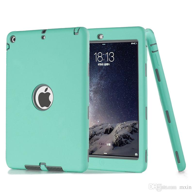 3 in 1 Defender Robot Heavy Duty Shockproof Silicone TPU Hard PC Cover Case For New iPad 2017 2018 Pro 10.5 9.7 2 3 4 5 6 Air Mini Mini4