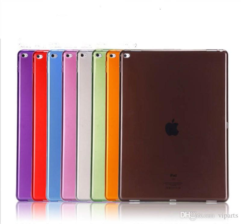 detailed look b3ab3 099d5 Soft Gel TPU Clear Case for New iPad 2018 Silicone Silk Slim Transparent  Back Cover for iPad Pro Air 7 6 5 4