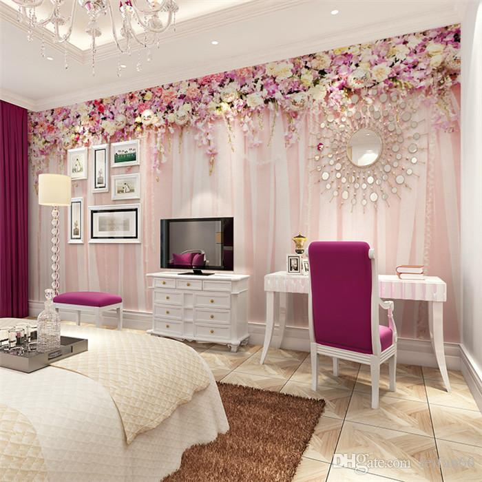 Photo Wallpaper Quality Romantic Flowers Hanging Cozy Bedroom Wedding Venue Meal Large Mural Wall Paper Living Room