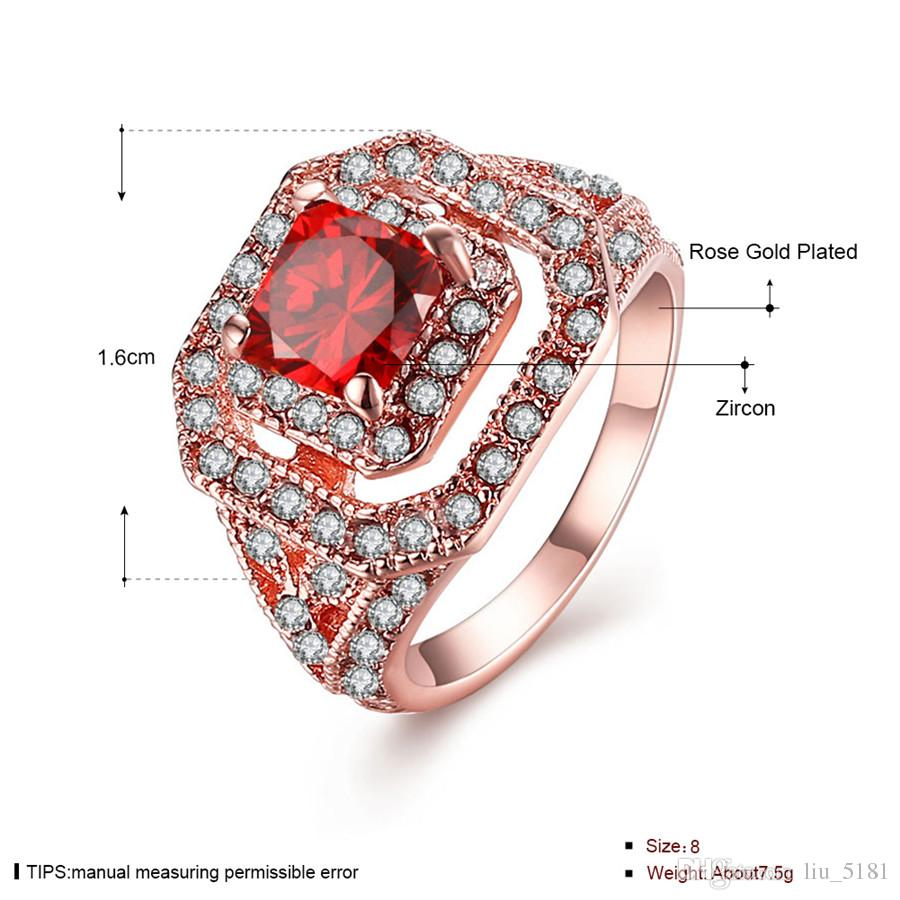 Three Years Quality Assurance New Fashion Jewelry 18K Rose Gold Plated Ring For Women R064