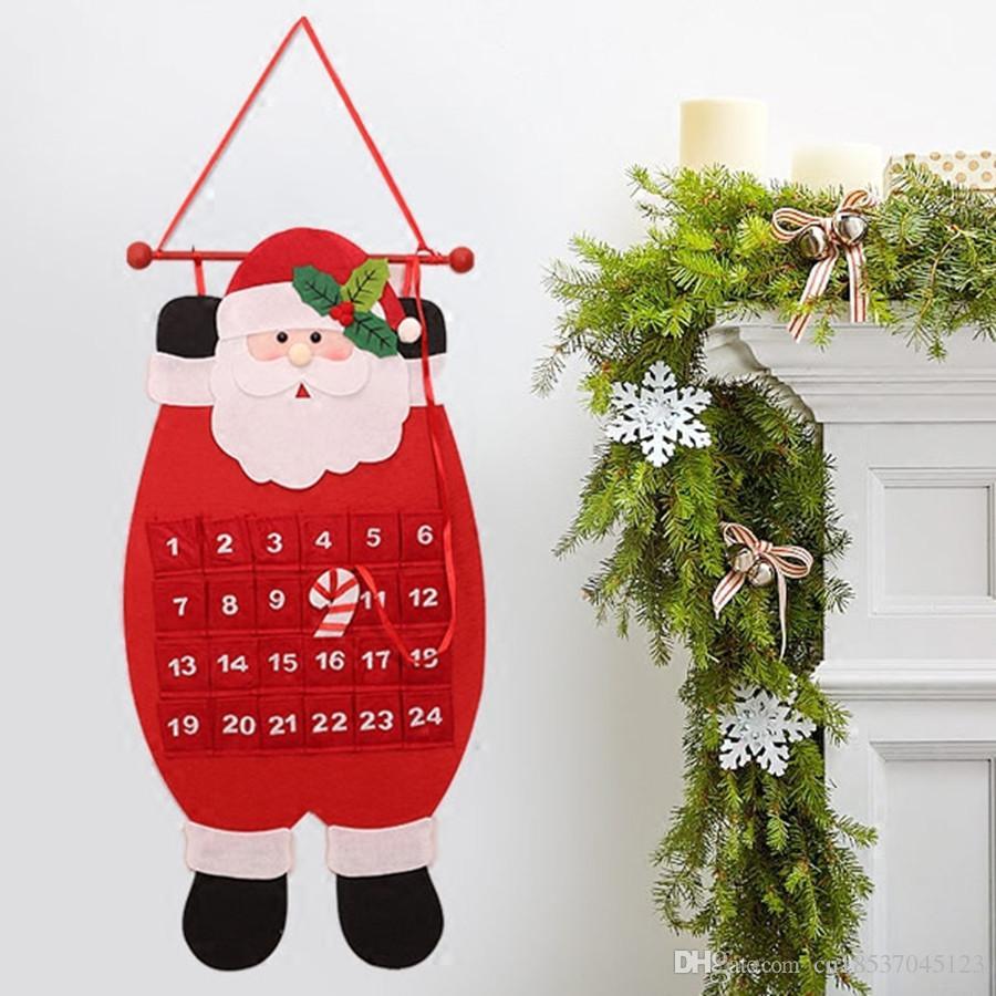 Christmas advent calendar craft santa claus snowman for Cheap christmas decorations sale