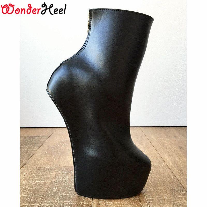 Wonderheel 20 سنتيمتر كعب الكاحل مات الأخضر عودة زيبر الوثن heelless الحصان المهر الحصان الفحل منصة الأزياء والأحذية