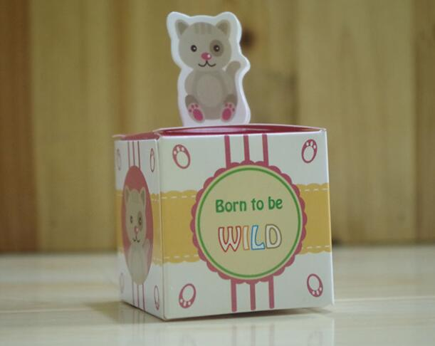 Cute Animal Favor boxes Baby shower wedding Party candy box lovely dog pig panda gift boxes