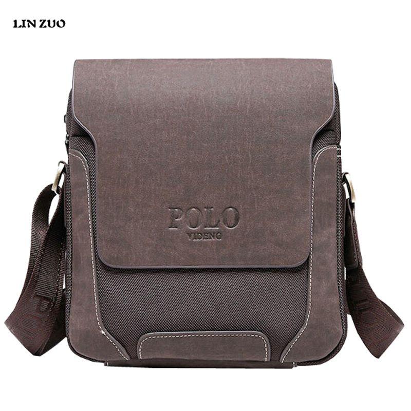 Wholesale Luxury Design Casual Men S Genuine Leather Shoulder Bag Men  Travel Bags POLO Famous Brand Male Messenger Bags Man Crossbody Bags  Handbags ... 3f29437e1a865