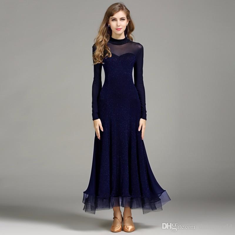 Vestido de flamenco azul oscuro traje de baile español trajes de baile flamenco trajes de baile de salón de baile vestidos baile de salón vals