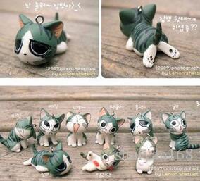 Netter Schlüsselring Japaner Maneki Neko Käse-Katze beweglicher Keychain glücklicher Katzen-Handy bezaubert die hängenden Zusätze für Telefon Keychains DHL geben frei