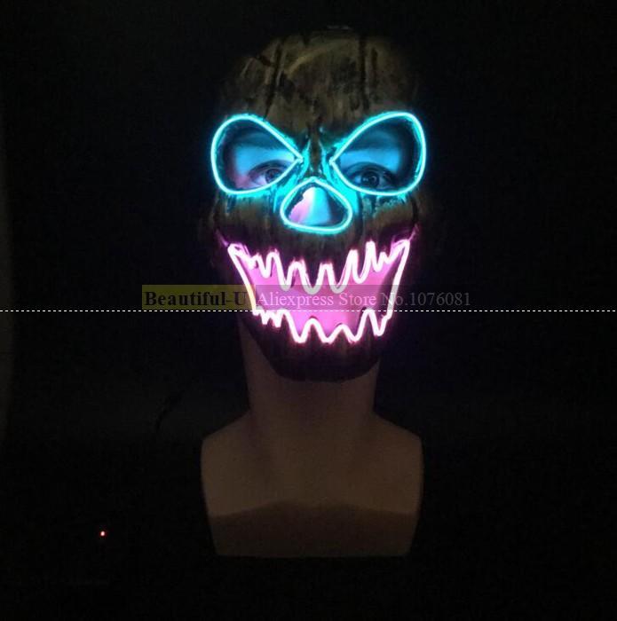 Wholesale Diy El Wire Colors Mask Light Up Neon Skull Led Mask For ...