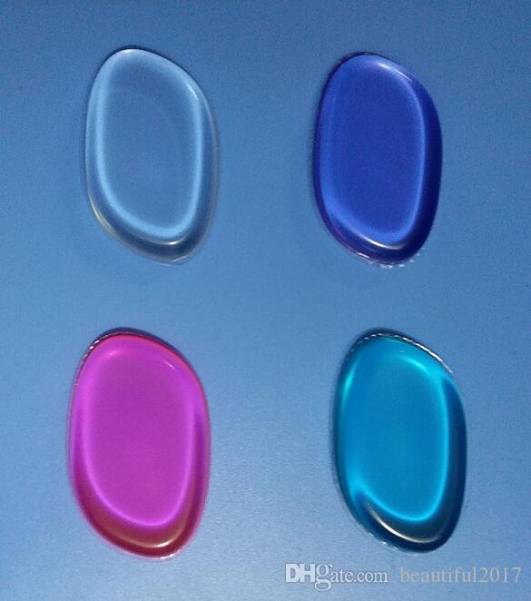 silicone makeup sponges Silisponge Blender Set Blending Powder Smooth Puff Beauty Foundation Latex Free Sponge transparent