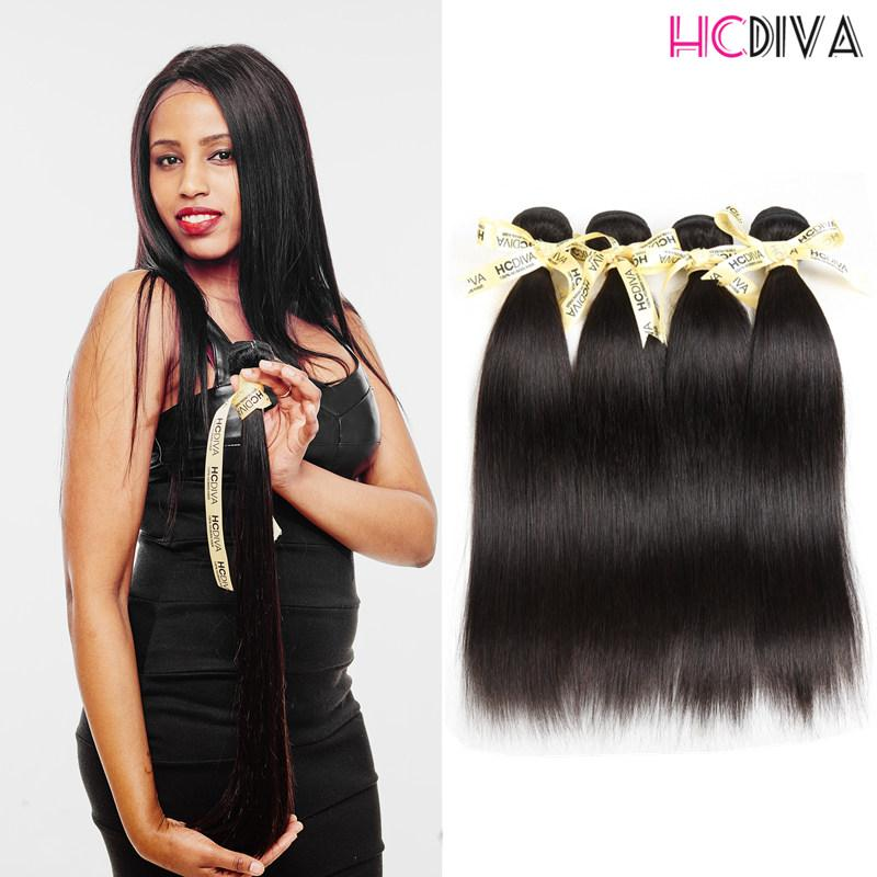Brazilian Indian Malaysian Peruvian Extensions Straight Virgin Human Hair Grade 7A 3 Bundles 100% Unprocessed Natural Color Wholesale Sale