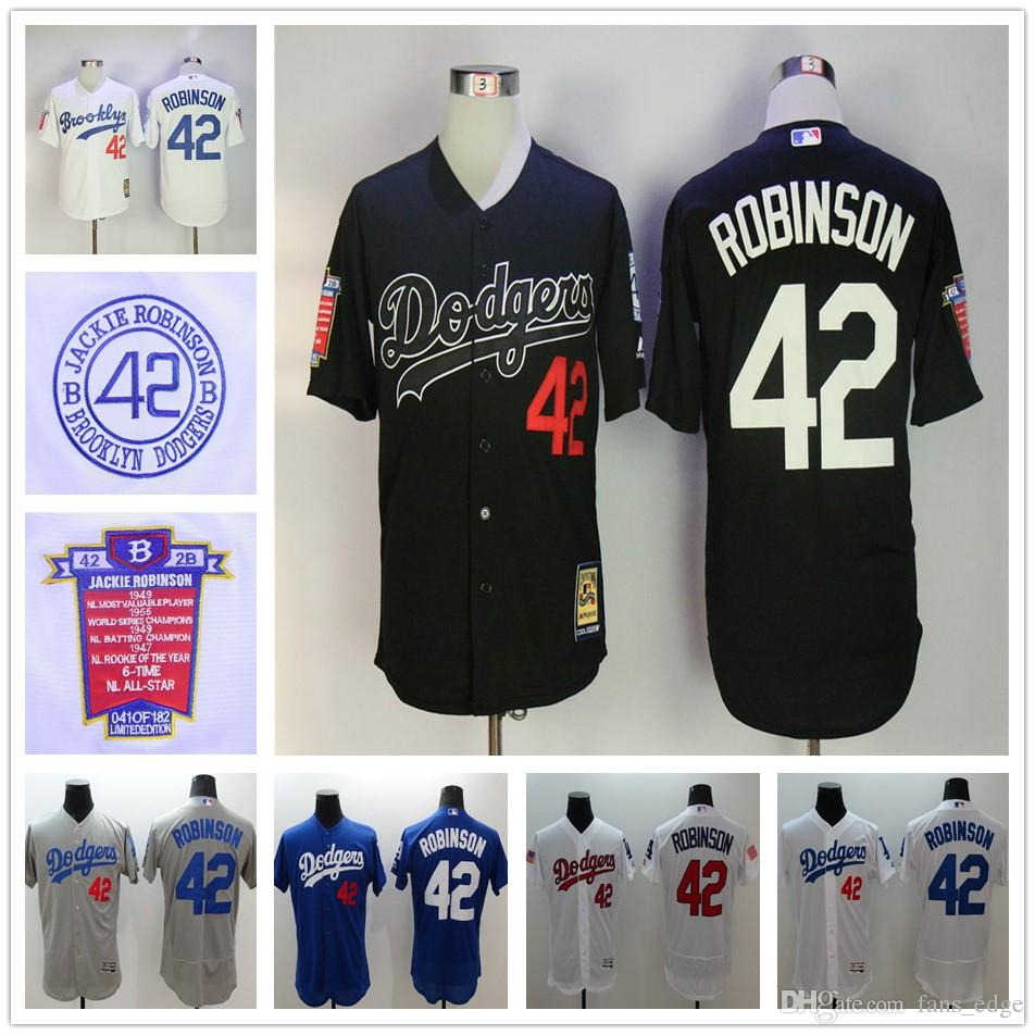 ... 2017 Los Angeles Dodgers 42 Jackie Robinson Jersey Black White  Collection 1955 Hall Of Fame Dual .