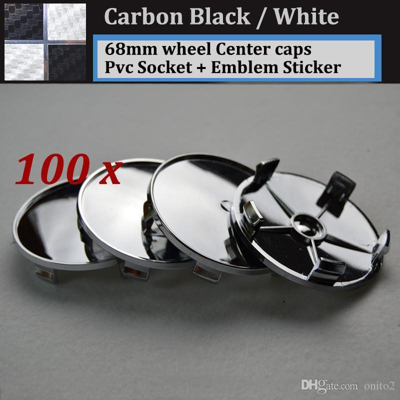 Carbon fiber black white 68mm 2.68inch pvc badge car wheel center Hub Caps Emblem Rims car caps for E46 E36 E39 E38 E90 E60 M3 M5