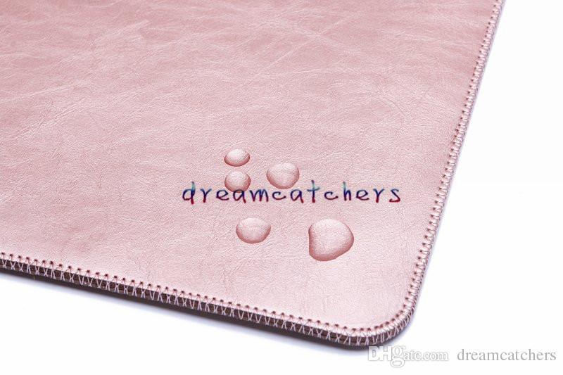 Étui de luxe pour la rétine double poche pochette Macbook sacs pour ordinateur portable housse de protection en cuir PU pour Apple MacBook air 11 13 12 pouces
