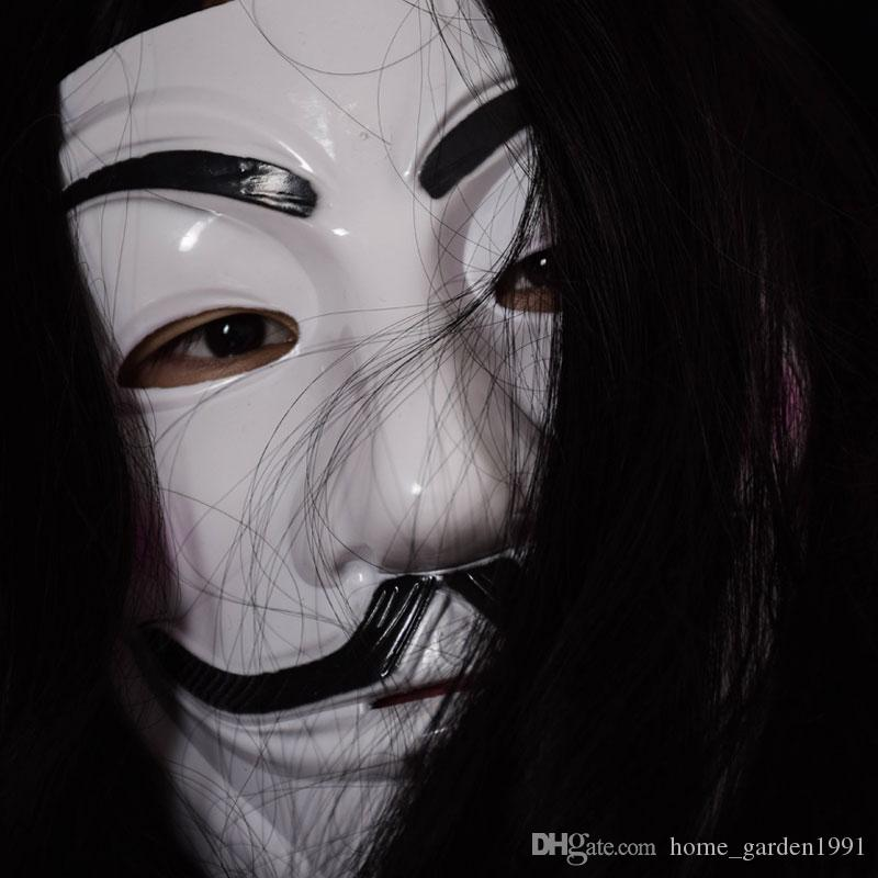 V Mask Masquerade Masks For Vendetta Anonymous Valentine Ball Party Decoration Full Face Halloween Super Scary Party Mask