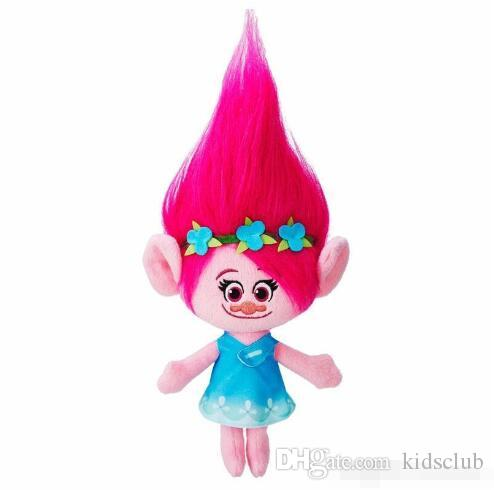 Movie Trolls Doll Plush Toy 36CM Poppy Branch Dream Works Stuffed Cartoon Dolls The Good Luck Trolls Christmas Gifts For Children