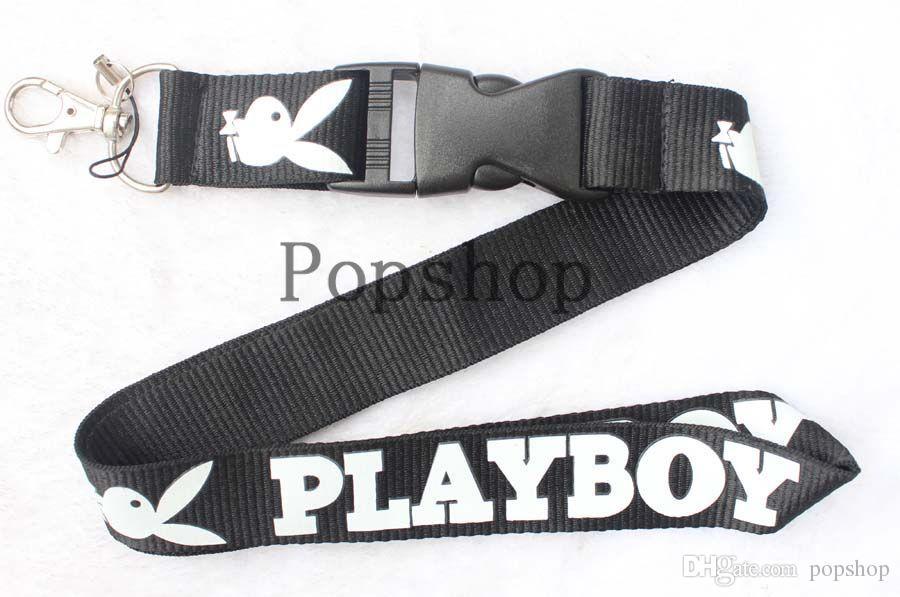 ¡Nuevo! Super Playboy Cordón Llavero Llavero ID Badge soporte para teléfono celular Correa para el cuello.