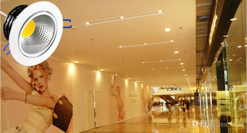 LED Deckeneinbauleuchte Dimmbar 110V 220V mit Fahrer Einstellbare COB Down Light Spot Lampe 3W 5W 7W 10W 15W für Supermarkt Hotelküche